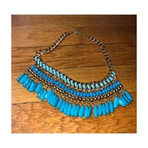Beautiful turquoise beaded necklace